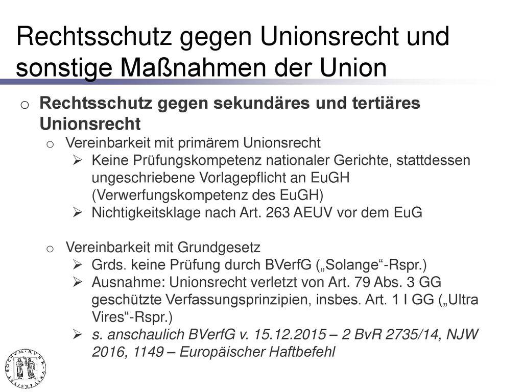 Rechtsschutz gegen unionsrechtswidriges innerstaatliches Recht