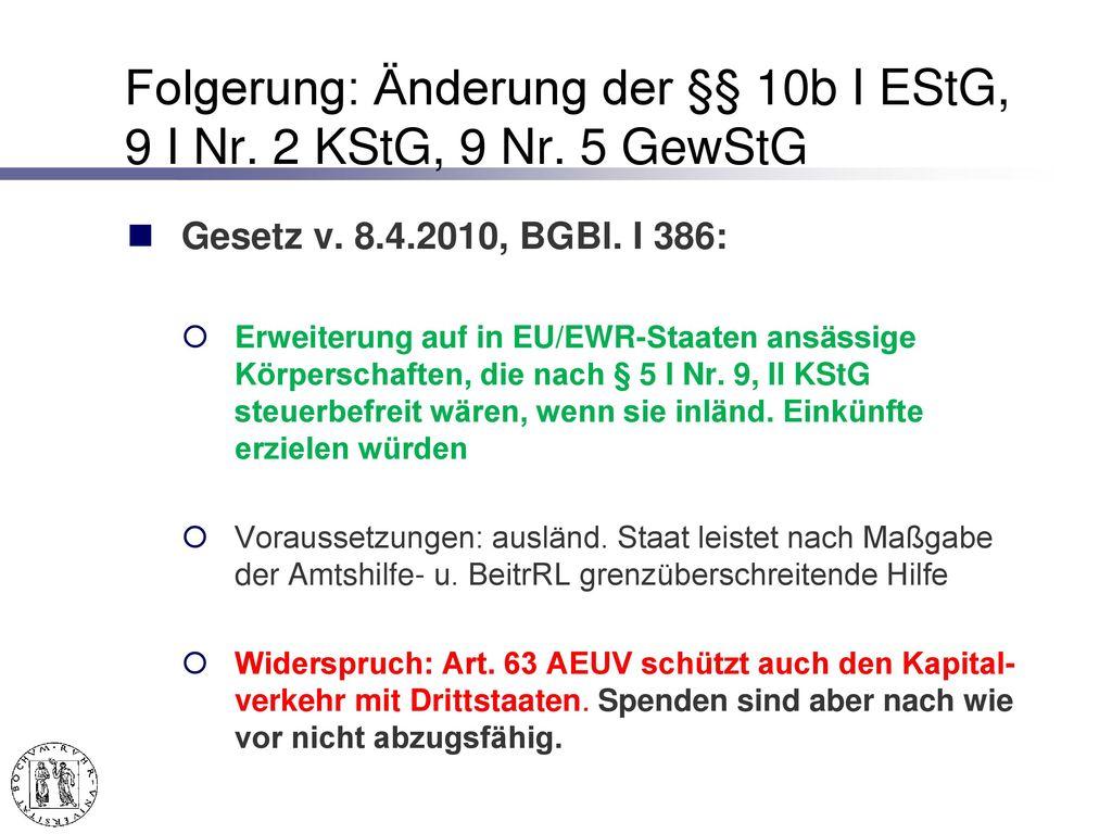 - Spendennachweis BFH v. 21.1.2015 – X R 7/13, BStBl. II 2015, 588.