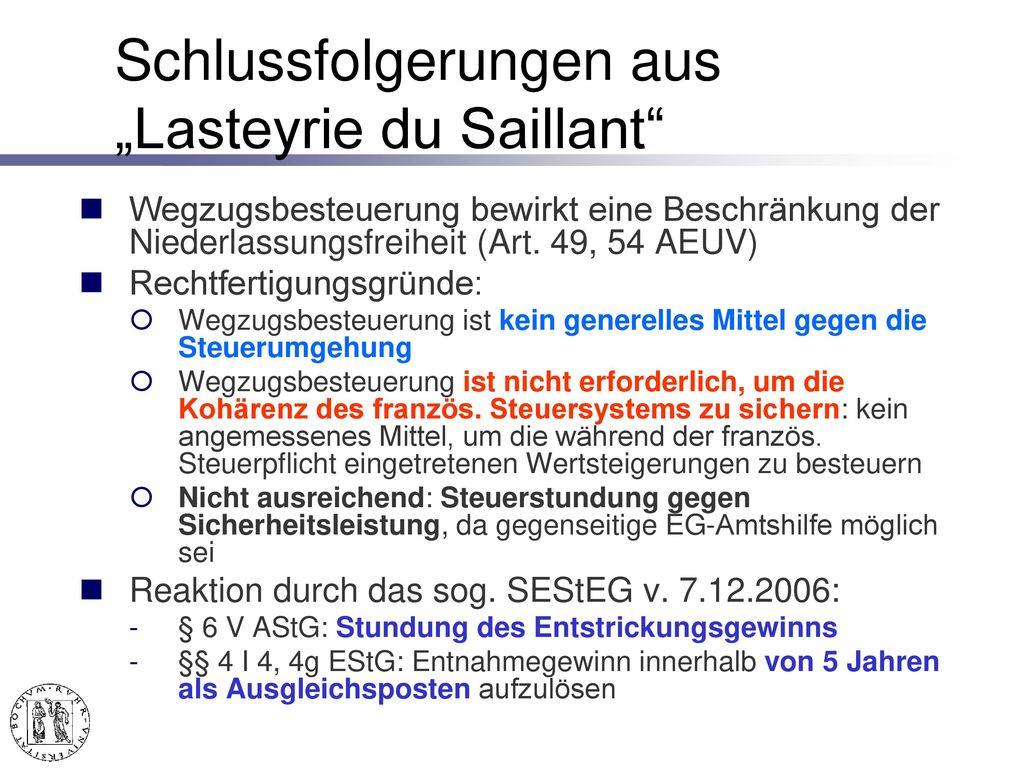 Niederlassungsfreiheit Art. 49 ff. AEUV
