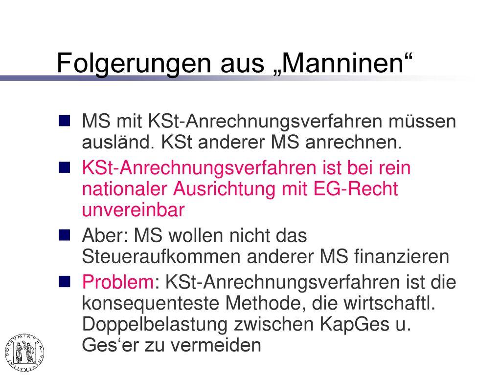 """""""Manninen Entscheidung – II."""