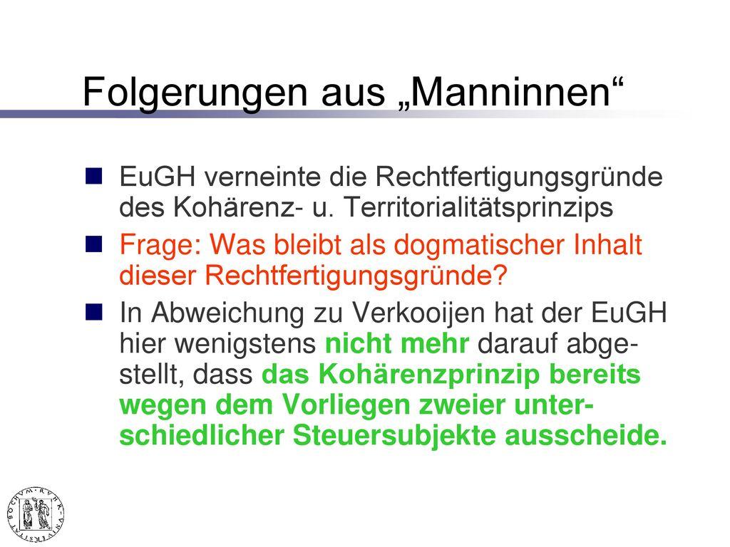 """Folgerungen aus """"Manninen"""