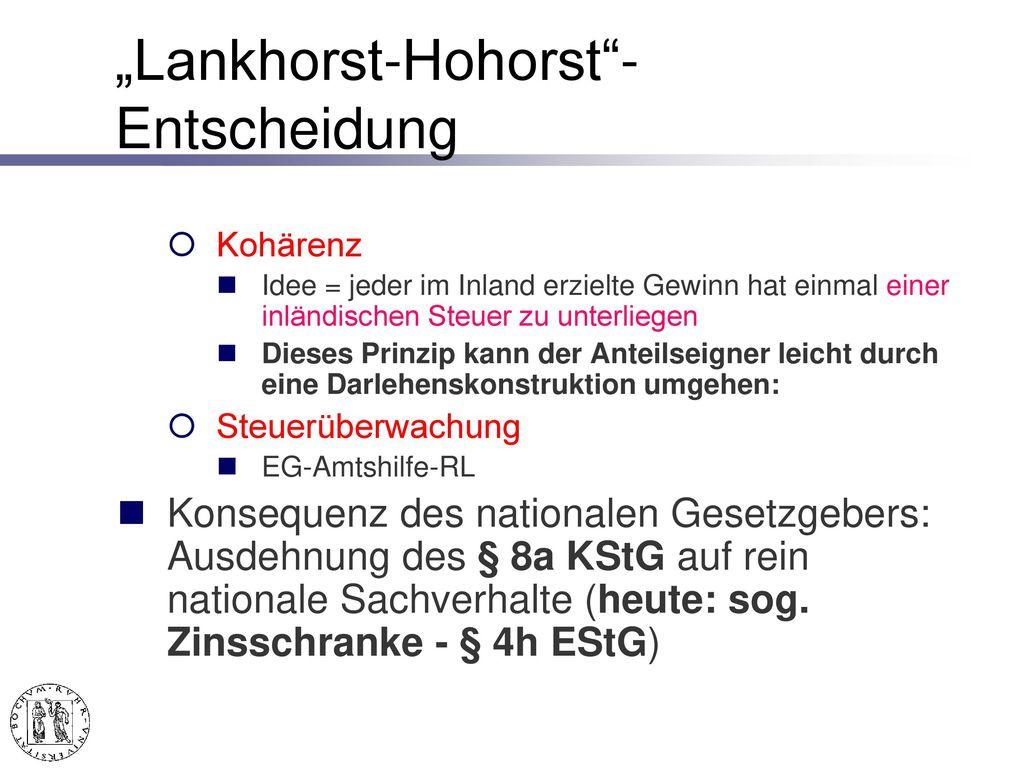 """Lankhorst-Hohorst -Entscheidung"