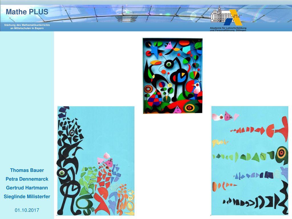 """Die oben gezeigte künstlerische Form """"Kunst aufräumen (hier: Aufräumen des Bildes """"The Garden von Miro) soll zeigen, wie sich die Mathematik in den Köpfen der Schüler oftmals manifestiert:"""