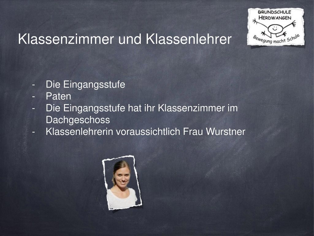 Klassenzimmer und Klassenlehrer