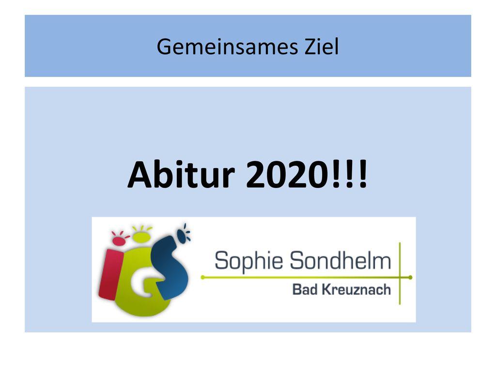 Gemeinsames Ziel Abitur 2020!!!