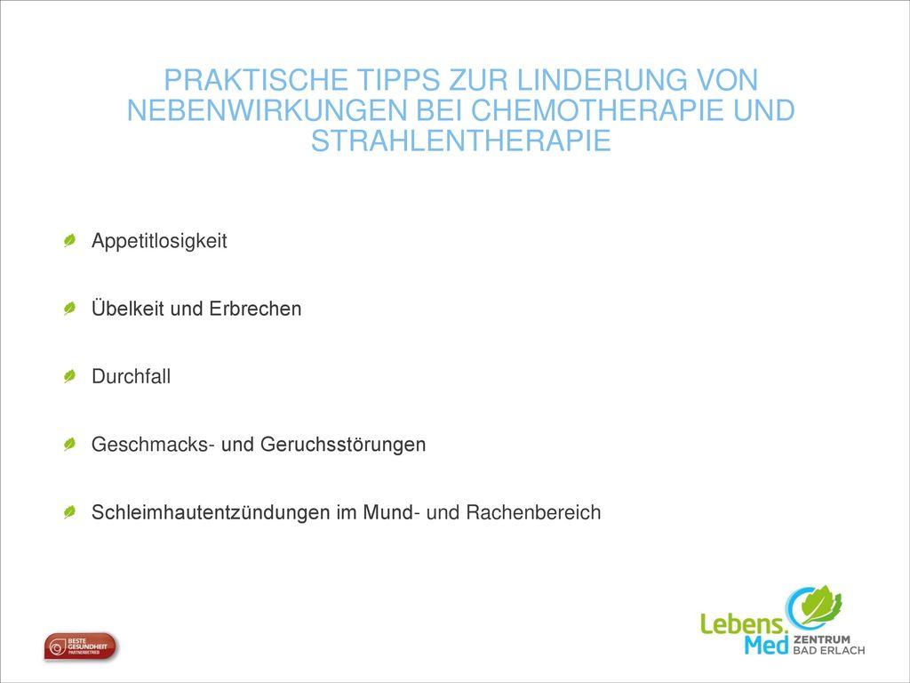 Praktische Tipps zur Linderung von Nebenwirkungen bei Chemotherapie und Strahlentherapie