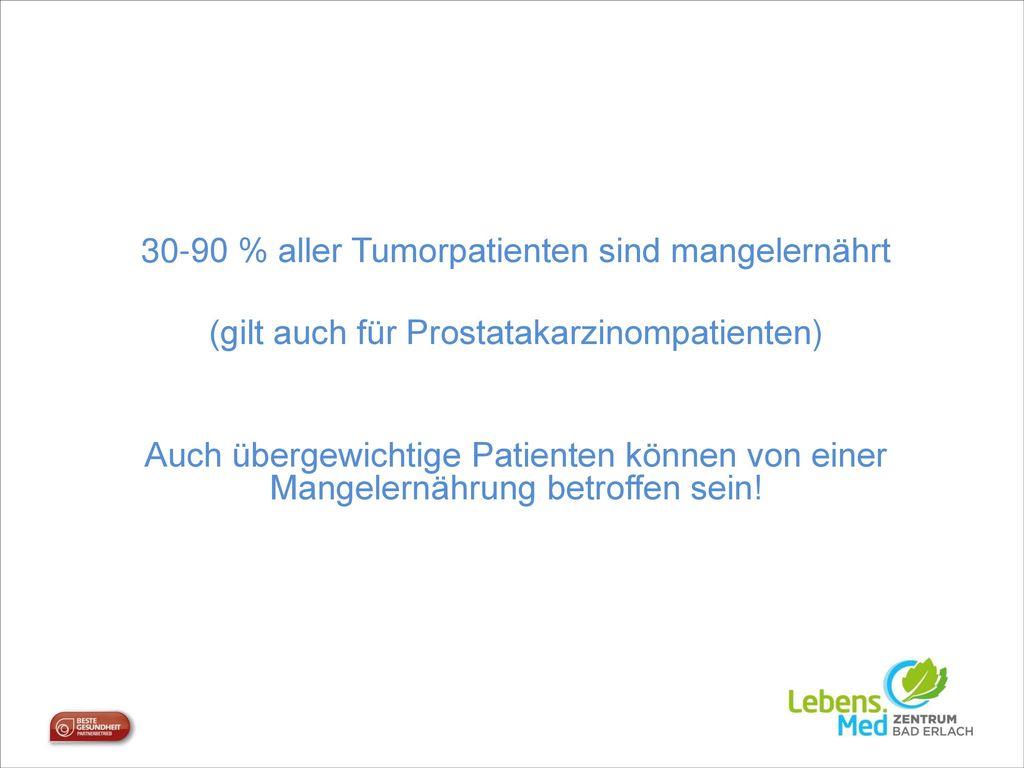 30-90 % aller Tumorpatienten sind mangelernährt