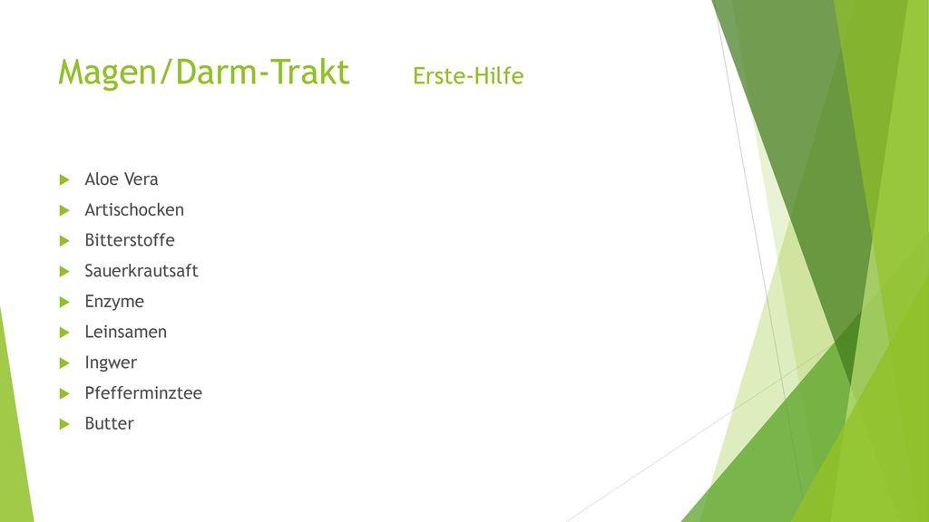 Magen/Darm-Trakt Erste-Hilfe