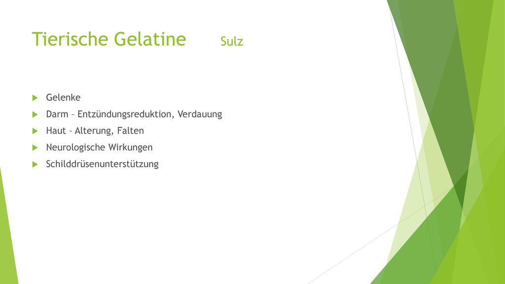 Tierische Gelatine Sulz