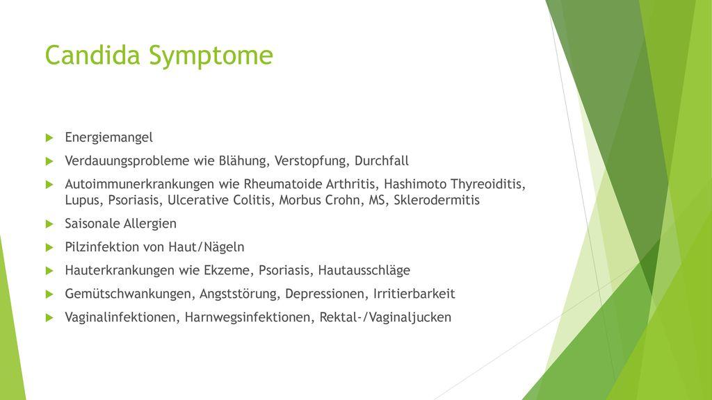 Candida Symptome Energiemangel