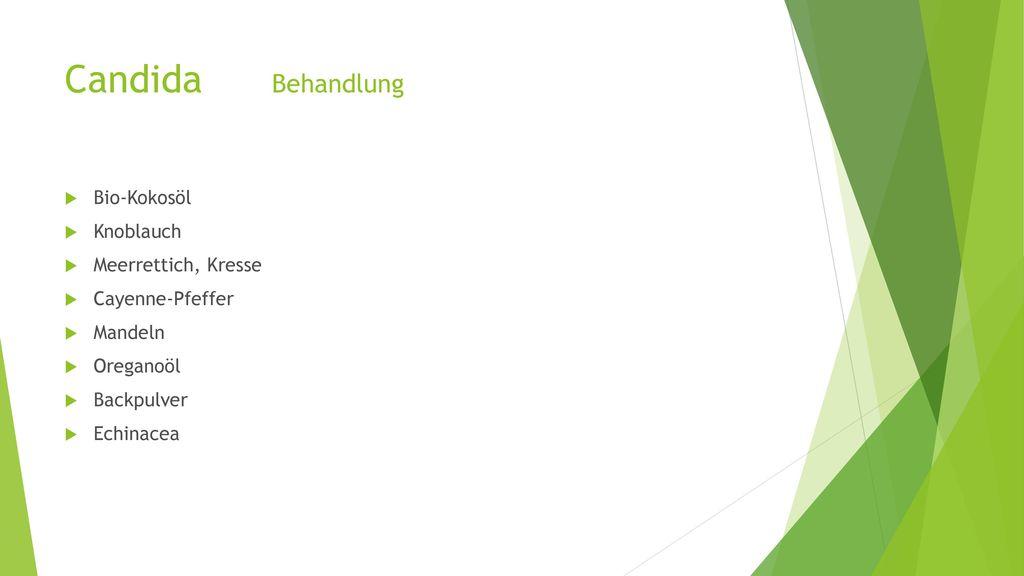 Candida Behandlung Bio-Kokosöl Knoblauch Meerrettich, Kresse