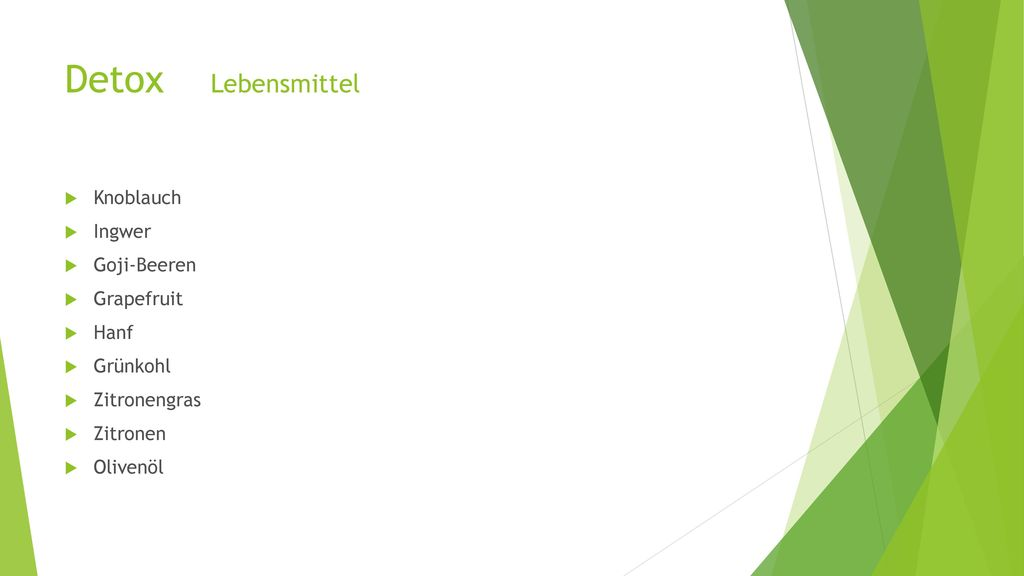 Detox Lebensmittel Knoblauch Ingwer Goji-Beeren Grapefruit Hanf