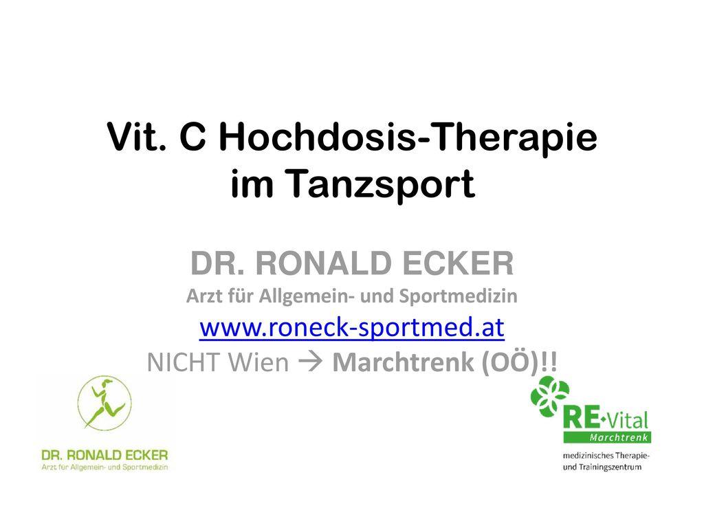 Vit. C Hochdosis-Therapie im Tanzsport