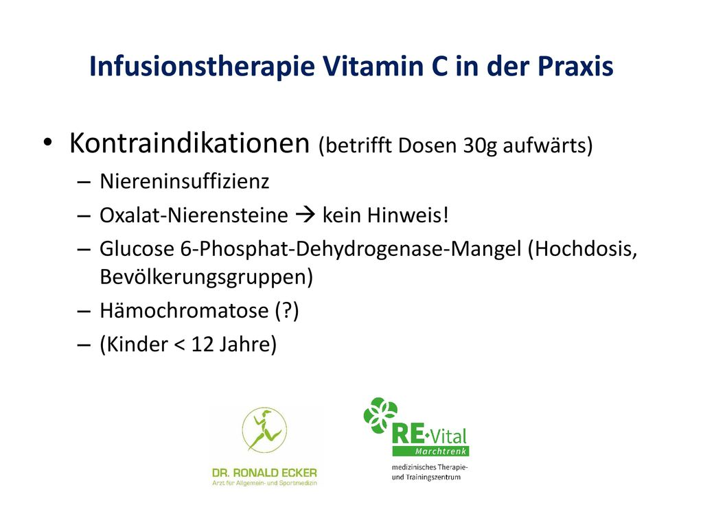 Infusionstherapie Vitamin C in der Praxis