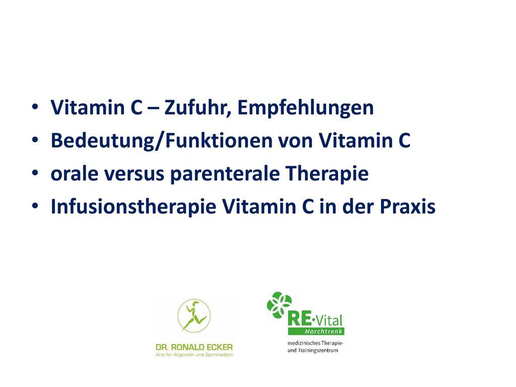 Vitamin C – Zufuhr, Empfehlungen