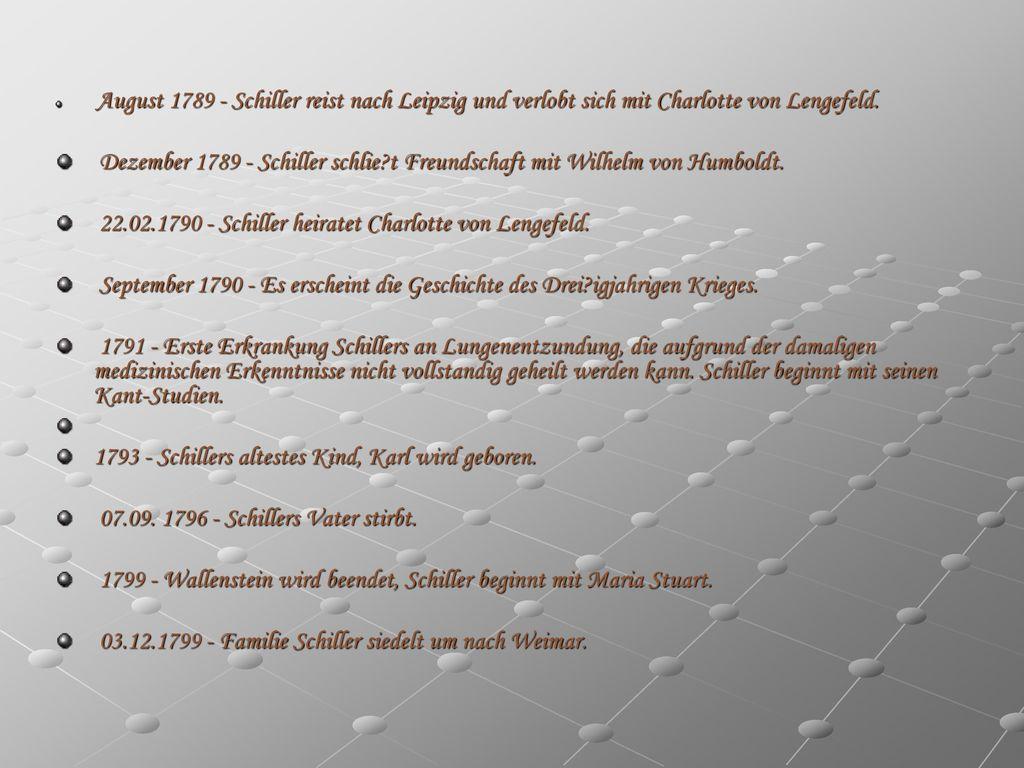 22.02.1790 - Schiller heiratet Charlotte von Lengefeld.
