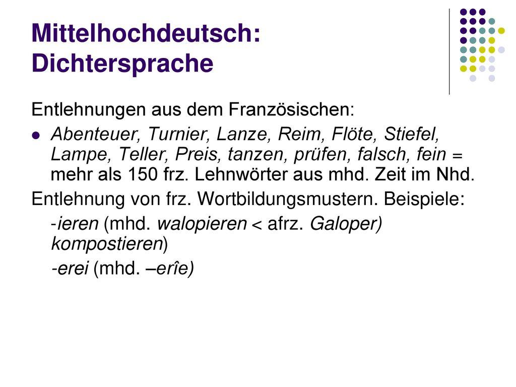 Mittelhochdeutsch: Dichtersprache