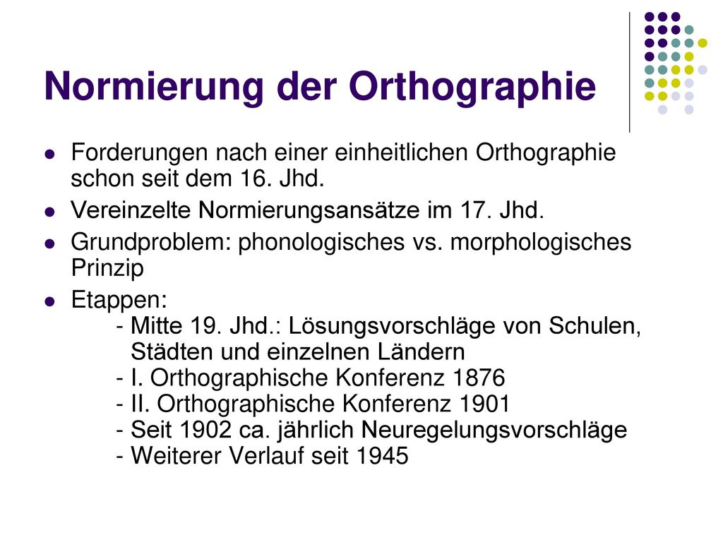 Normierung der Orthographie