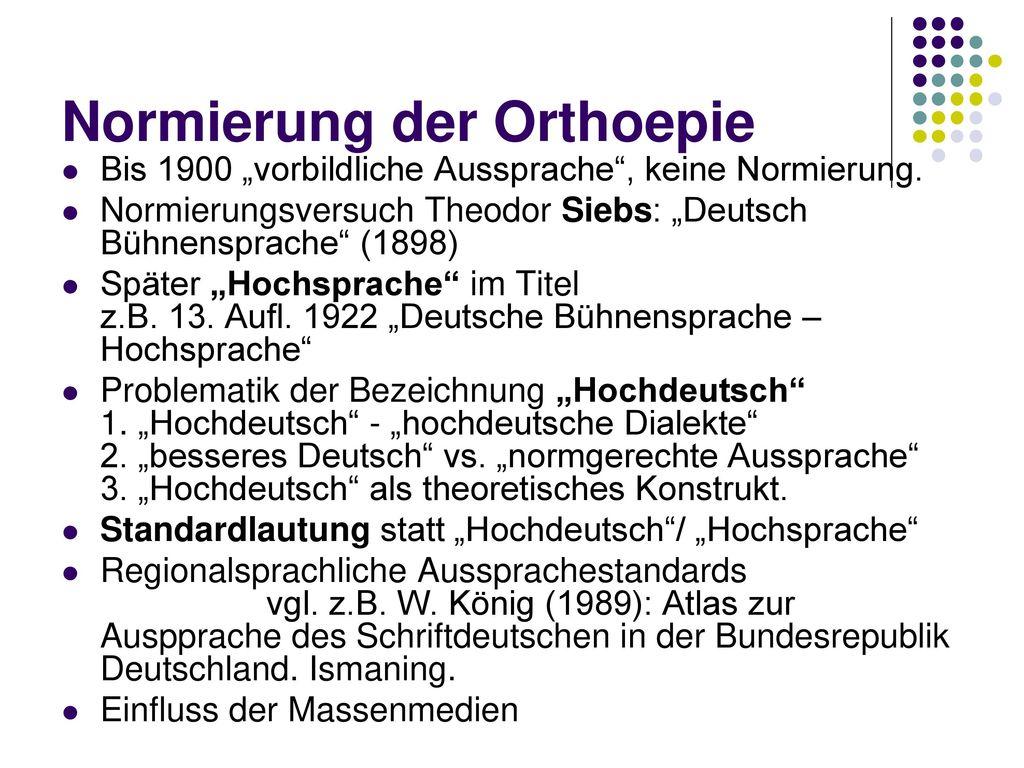 Normierung der Orthoepie