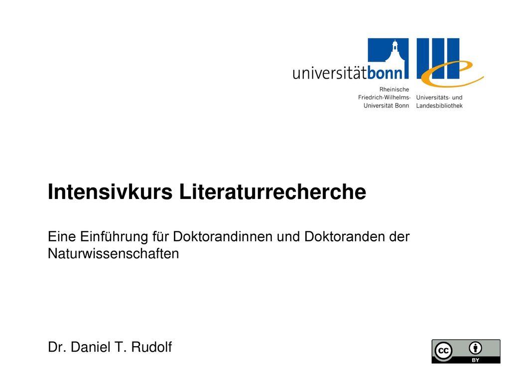Kursinhalte Dienstleistungsangebot der ULB Rechercheportal bonnus