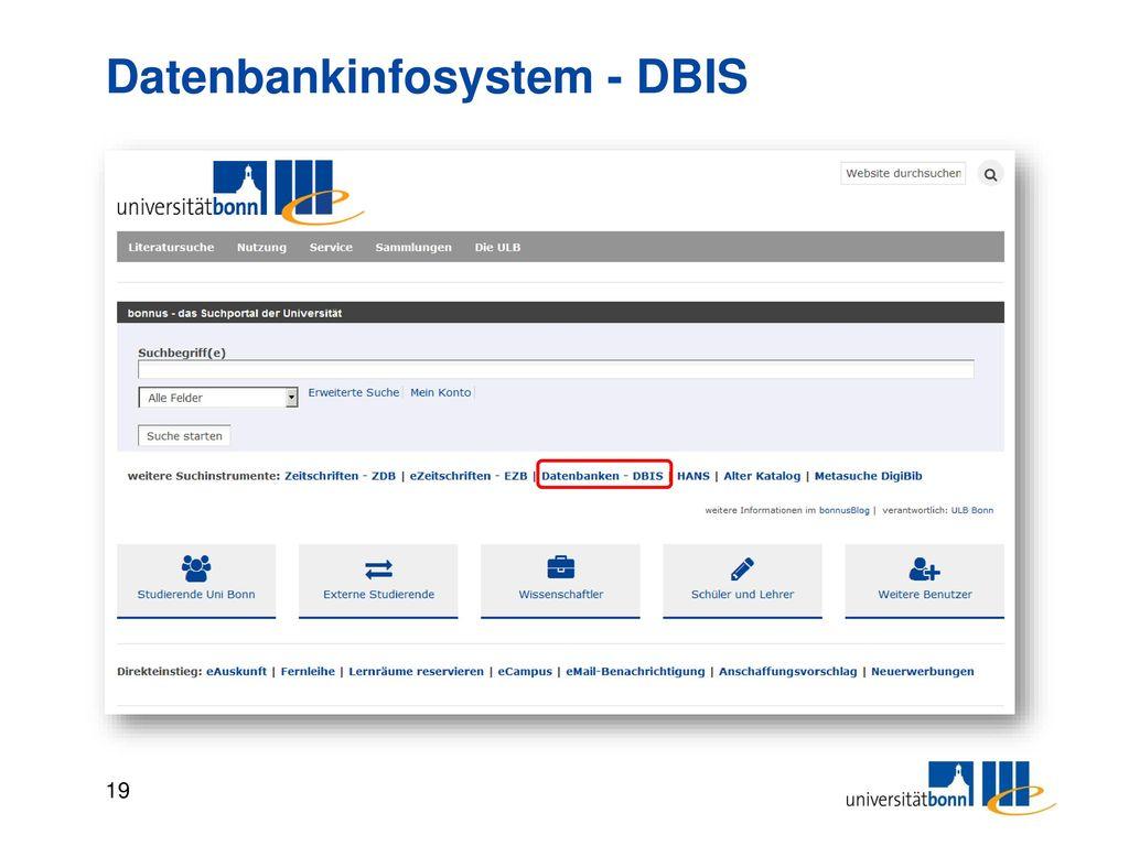 Datenbankinfosystem - DBIS