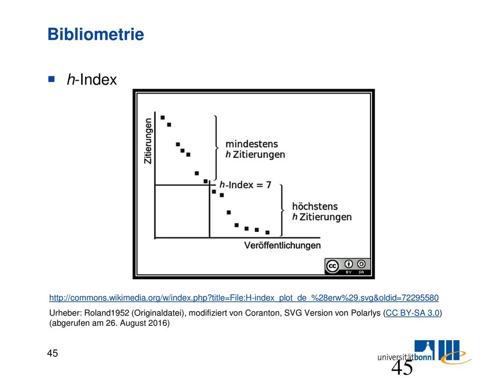 Bibliometrie Was sagt der h-Index eines Wissenschaftlers aus