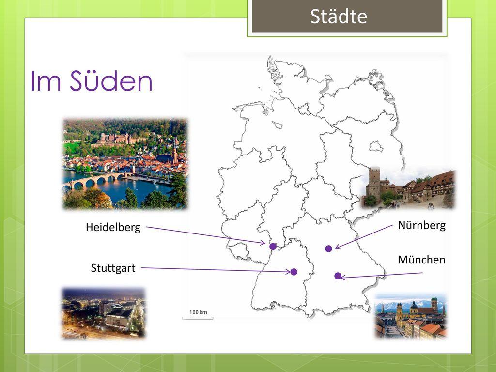 Städte Im Süden Heidelberg Nürnberg München Stuttgart