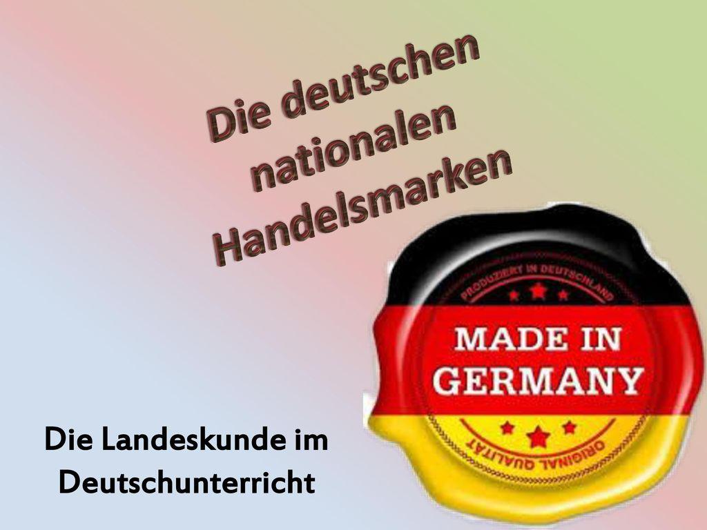 Die deutschen nationalen Handelsmarken