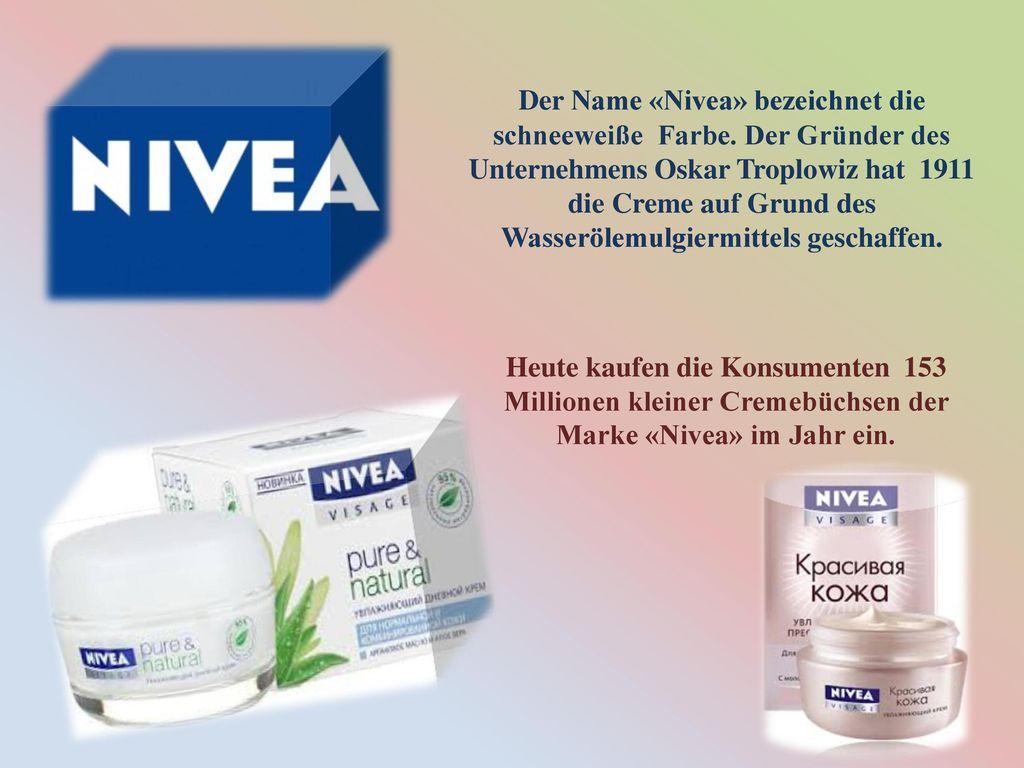 Der Name «Nivea» bezeichnet die schneeweiße Farbe