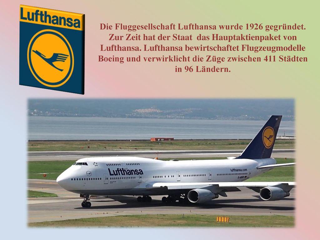 Die Fluggesellschaft Lufthansa wurde 1926 gegründet