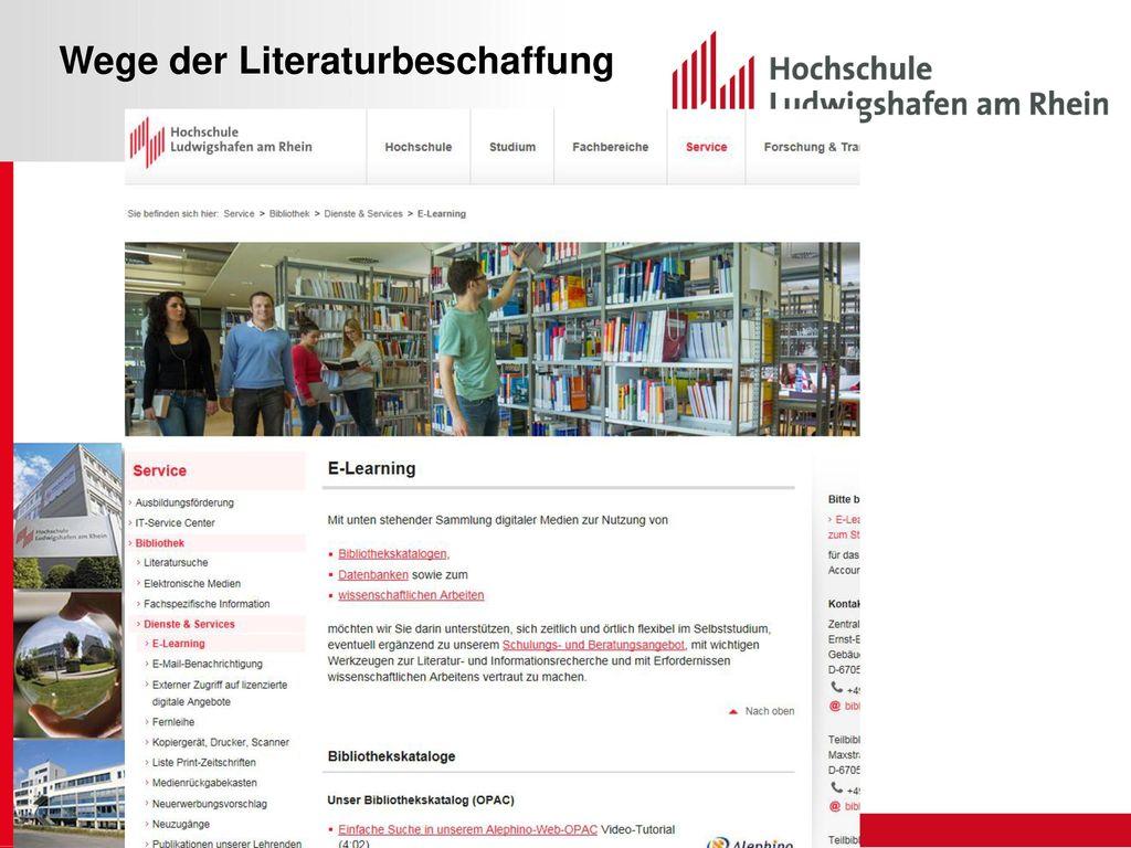 Wege der Literaturbeschaffung