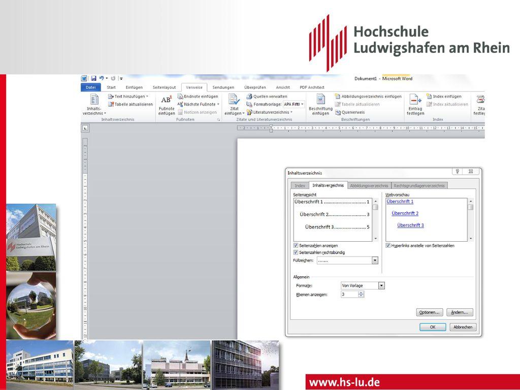 Titelblatt Hochschule Ludwigshafen am Rhein