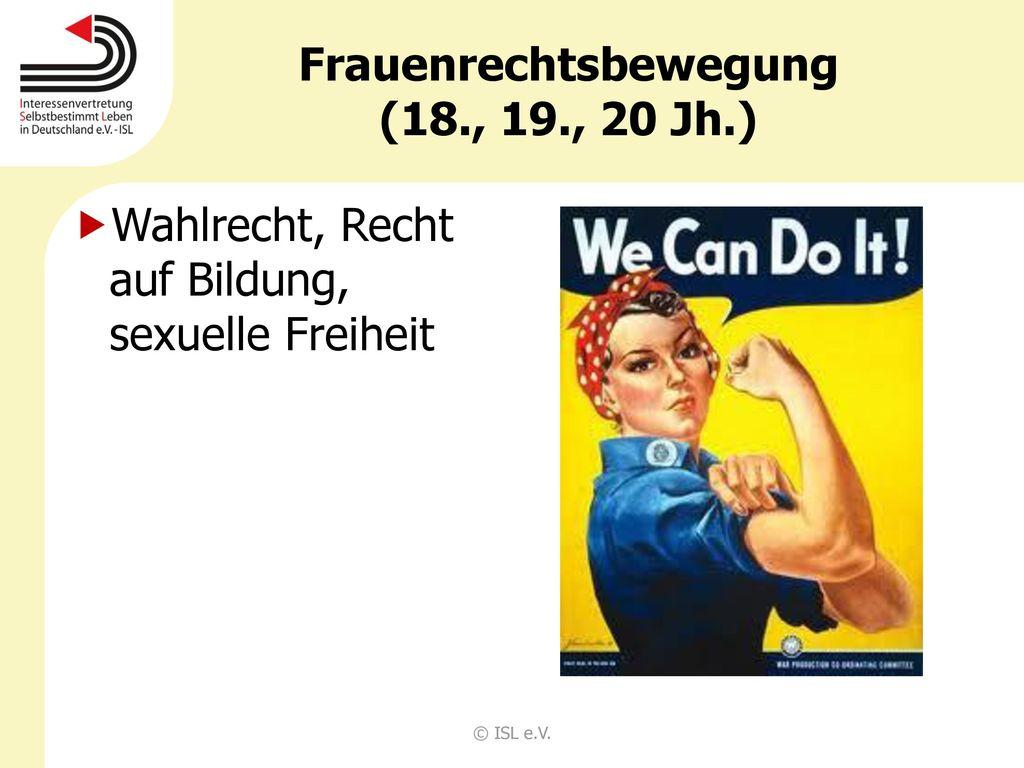 Frauenrechtsbewegung (18., 19., 20 Jh.)