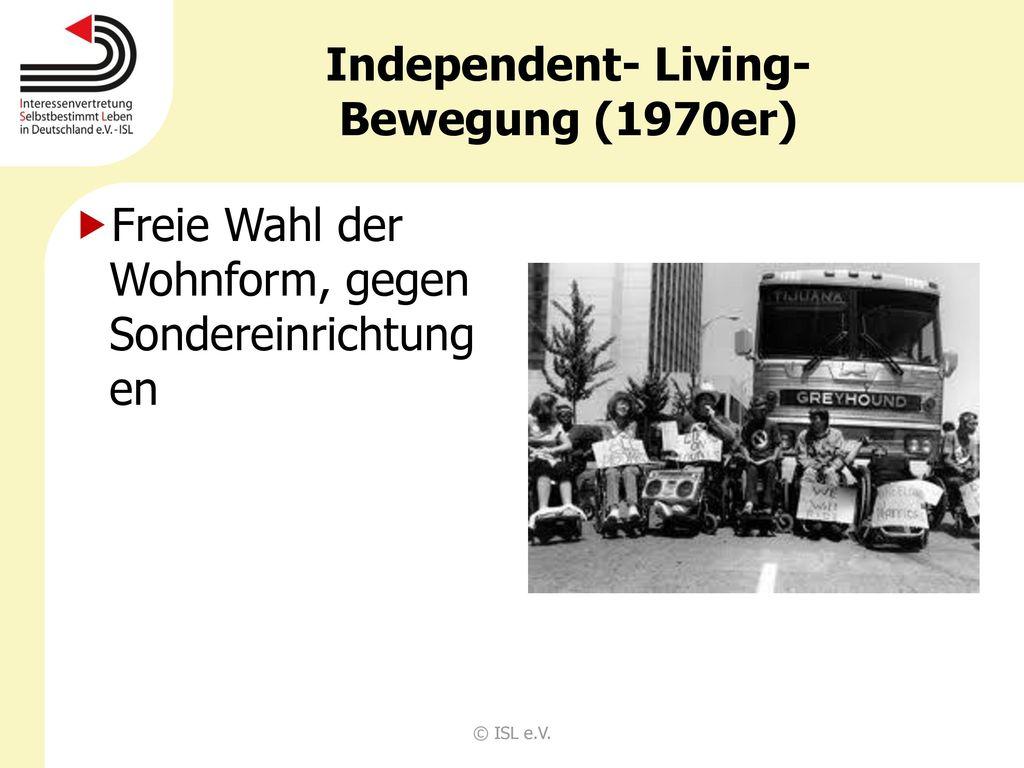 Independent- Living- Bewegung (1970er)