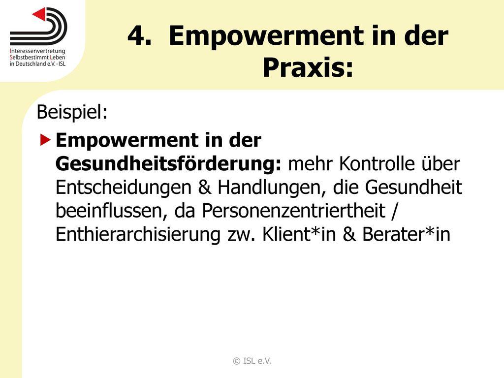 Empowerment in der Praxis: