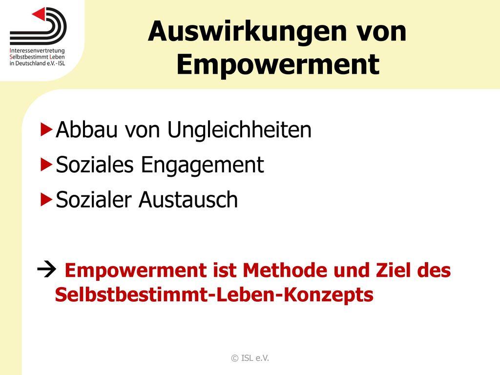 Auswirkungen von Empowerment