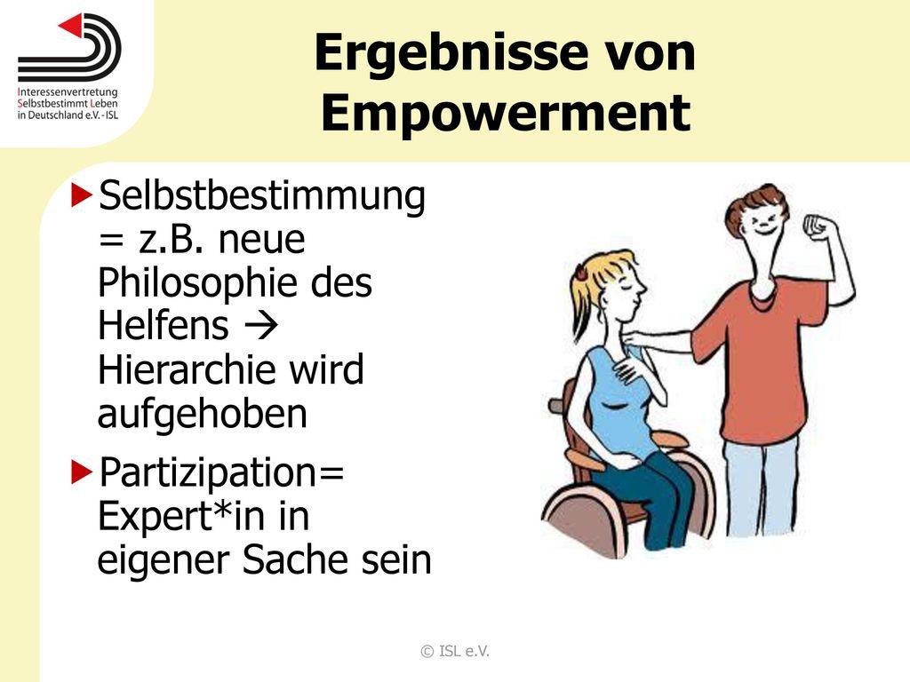 Ergebnisse von Empowerment