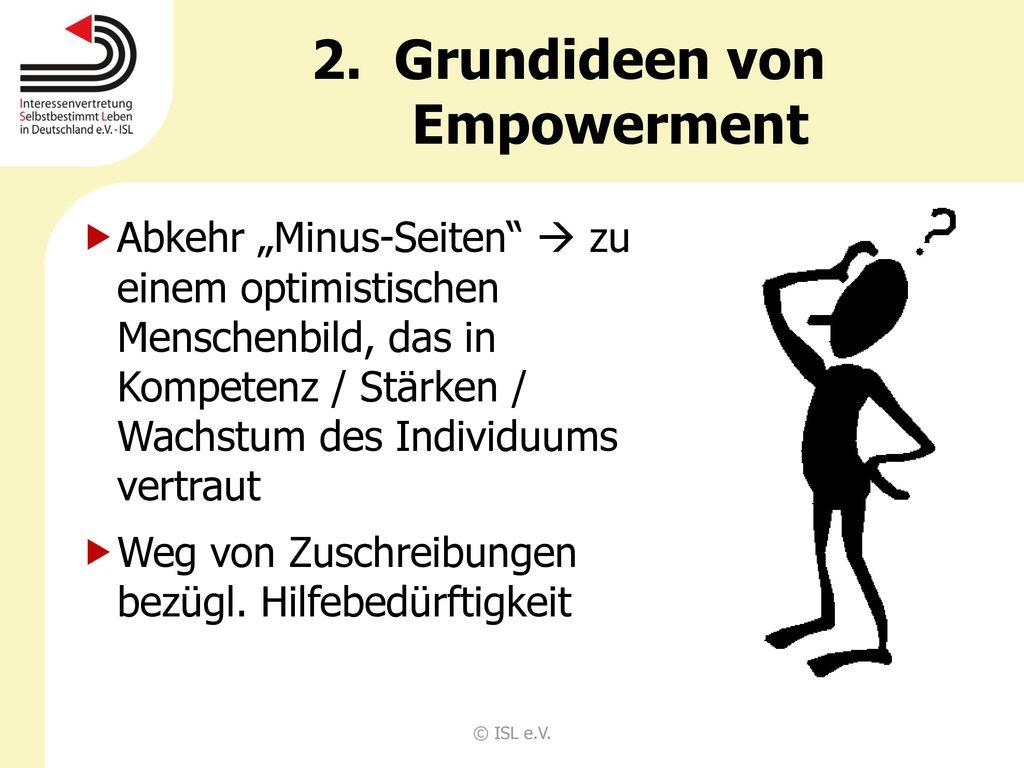 Grundideen von Empowerment