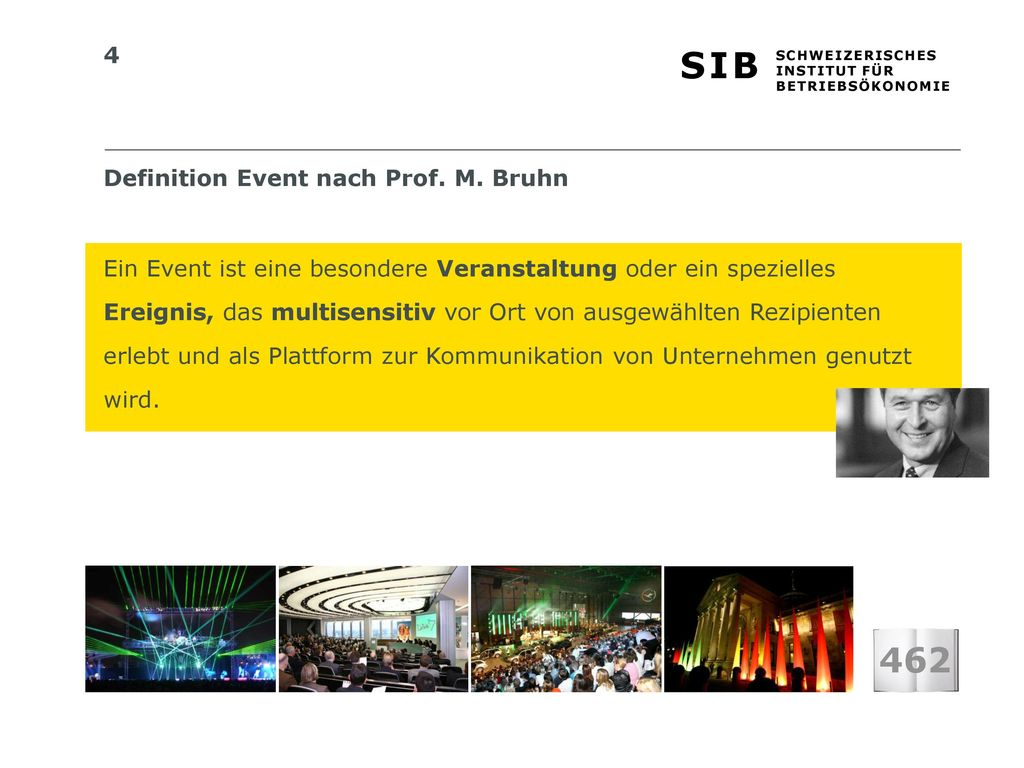 462 Definition Event nach Prof. M. Bruhn