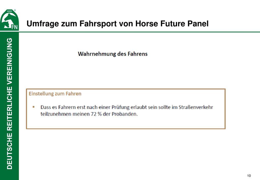Umfrage zum Fahrsport von Horse Future Panel
