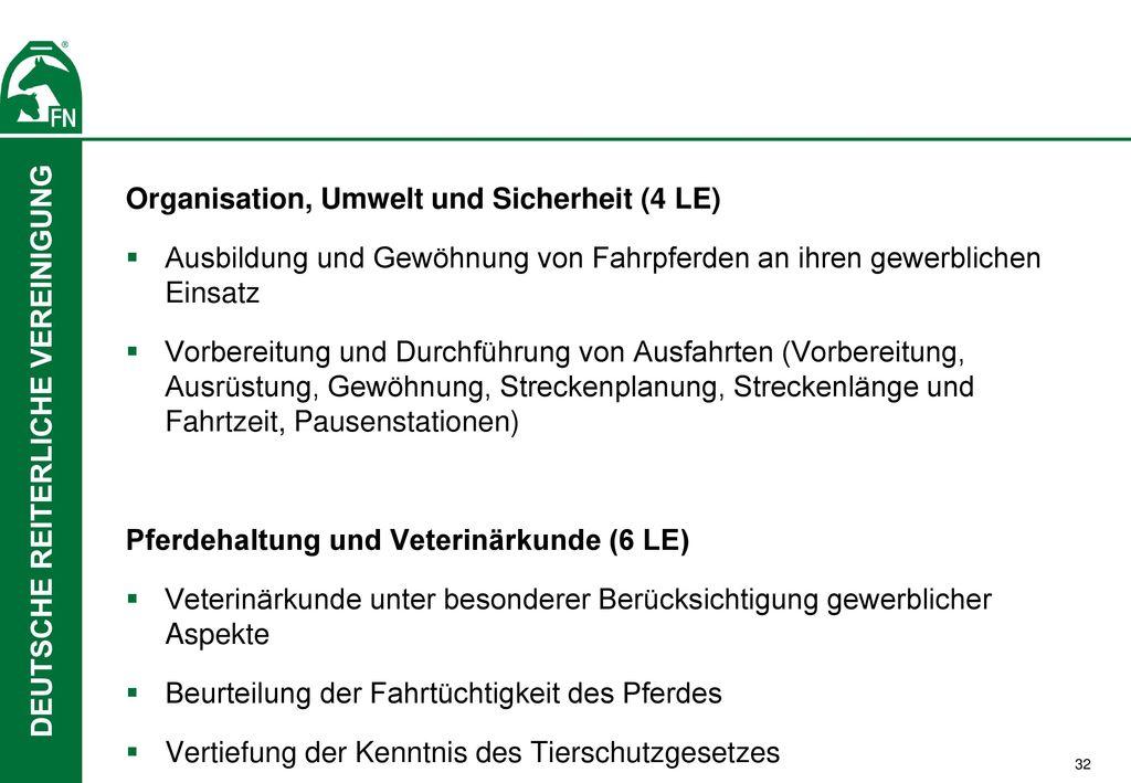 Organisation, Umwelt und Sicherheit (4 LE)