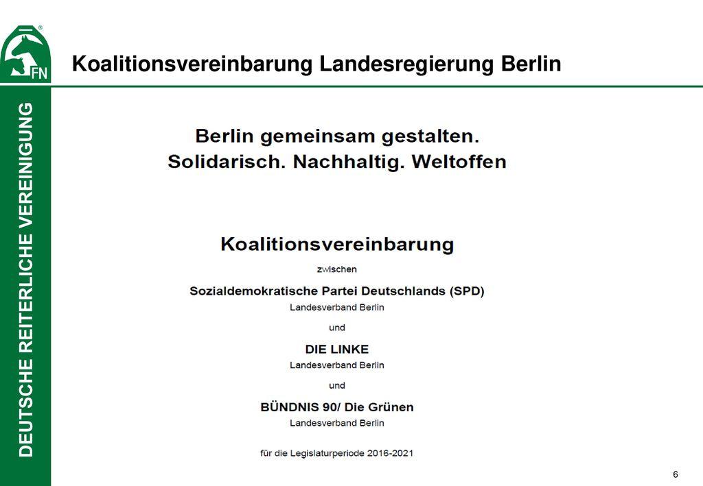 Koalitionsvereinbarung Landesregierung Berlin