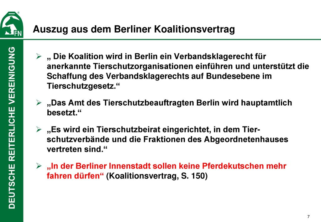Auszug aus dem Berliner Koalitionsvertrag