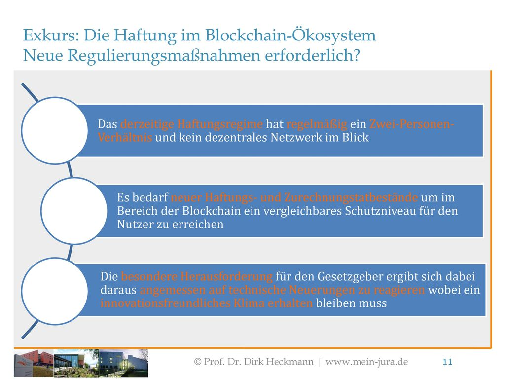 Exkurs: Die Haftung im Blockchain-Ökosystem