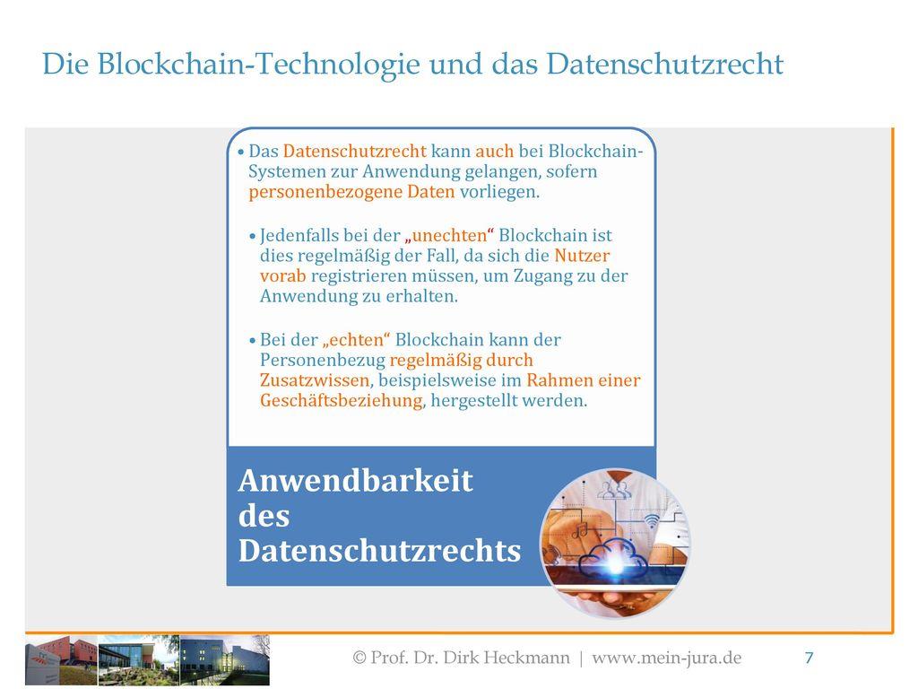 Anwendbarkeit des Datenschutzrechts
