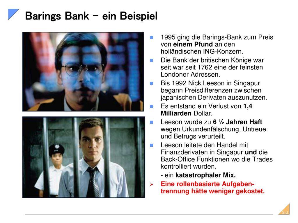 Barings Bank – ein Beispiel