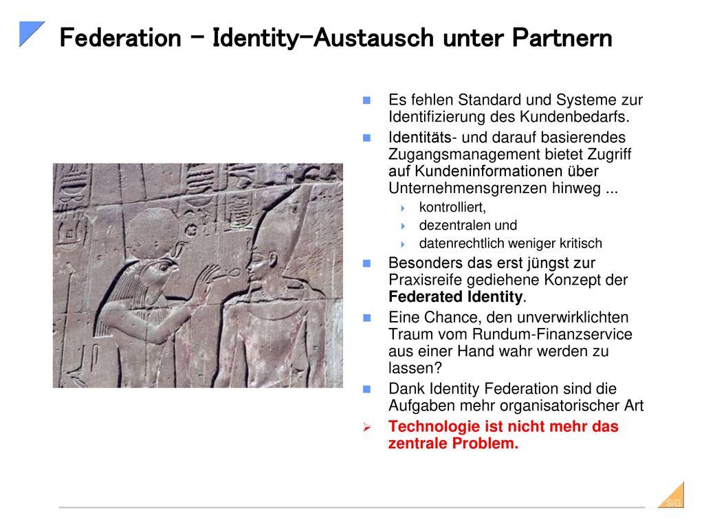 Federation – Identity-Austausch unter Partnern