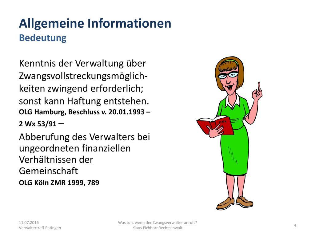 Allgemeine Informationen Bedeutung