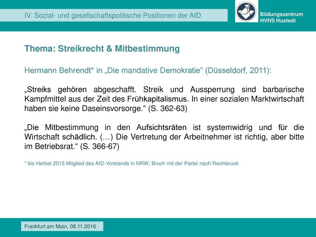 Thema: Streikrecht & Mitbestimmung