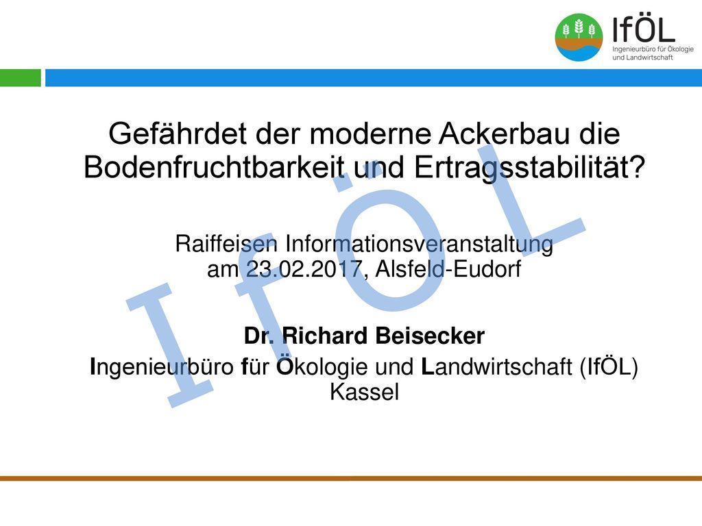 Vorstellung Diplom-Agraringenieur; Studium des Pflanzenbaus und der Bodenkunde an der Universität Göttingen.